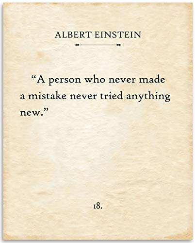 - Albert Einstein - A Person Who Never - 11x14 Unframed Typography Book Page Print - Great Gift for Book Lovers, Also Makes a Great Gift Under $15
