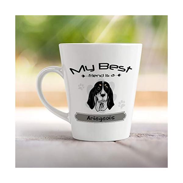 Ceramic Custom Latte Coffee Mug Cup My Best Friend Is Ariegeois Dog Tea Cup 12 Oz Design Only 4