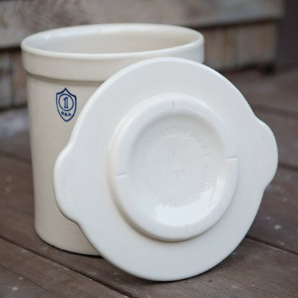 Ohio Stoneware 1 Gallon Preserving Crock Cover (Gallon 1 Stoneware Crock)