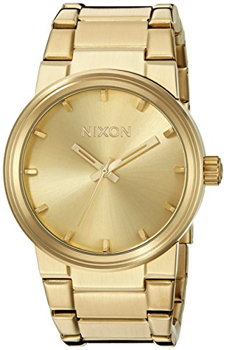 Nixon Cannon A160. 100m Water Resistant Men's Watch (39.5 mm Gold Watch Face/ 26-23 mm Gold Stainless Steel - Face Cannon