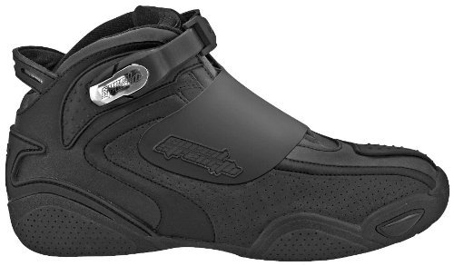 Speed and Strength Moment of Truth Men's Moto Leather Shoes (Black, Size 9)