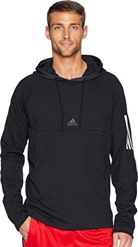 adidas Athletics Sport 2 Street Lifestyle Pullover Hoodie, Black/Large