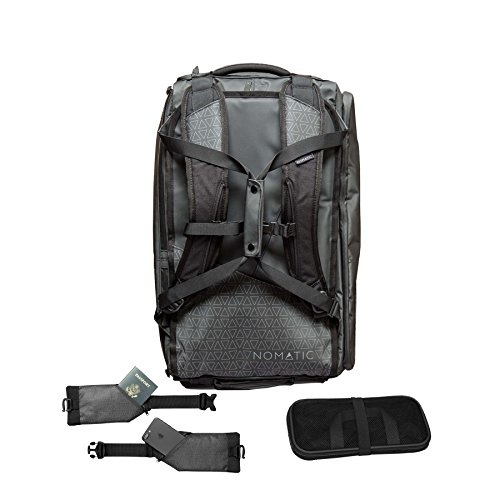 NOMATIC Water Resistant 40L Travel Bag - TSA Checkpoint Compliant Duffel/Backpack - Built in Laptop and Tablet Sleeve