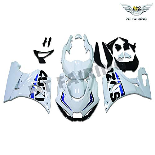 NT FAIRING White Fairing Fit for SUZUKI 2017 2018 2019 GSXR 1000 New Injection Mold ABS Plastics Bodywork Body Kit Bodyframe Body Work 17 18 19