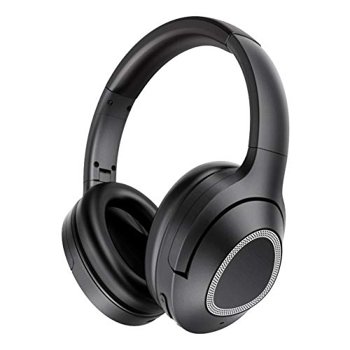 iDeaPlay V402 Active Noise Cancelling Headphones, Wireless Bluetooth, 30 Hours Playtime, Microphone aptX Stereo Sound, CVC 6.0 Noise-Cancelling Mic for Travel TV Computer Phone