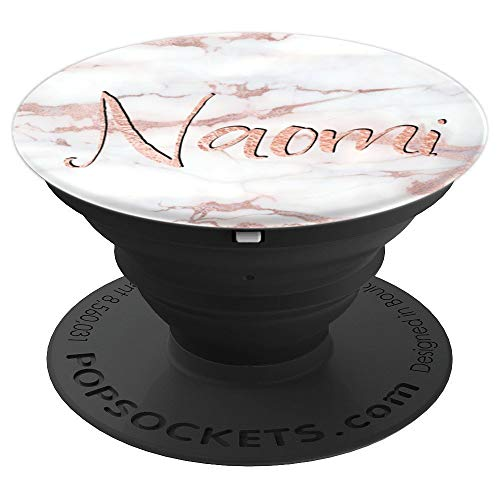 Naomi Name Personalized Rose Pink Marble - Naomi - PopSockets Grip and Stand for Phones and Tablets