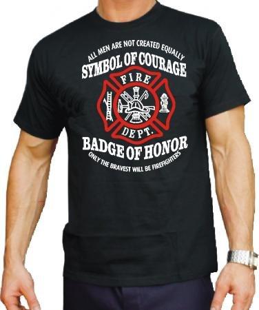 T-shirt de symbole courage badge of honor»