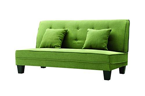 Glory Furniture  Newbury Armless Loveseat, Green