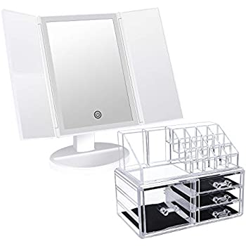 Amazon Com Brise Beaut 233 Lighted Makeup Mirror With 2
