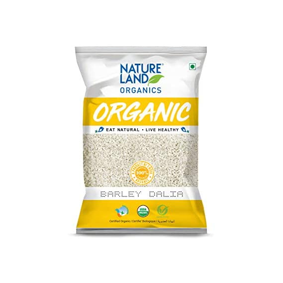 Natureland Organics Barley Dalia 500 Gm - Organic Dalia