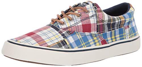 (Sperry Men's Striper II CVO Prep Sneaker, Patchwork Madras, 070 Medium US)