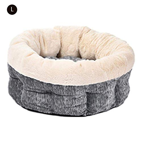 (PLDDY Self-Warming Cat and Dog Bed Cushion Nest,Raised Rim Supporting Good Sleep,Great for Small Medium Dogs (Color : #2, Size : L))