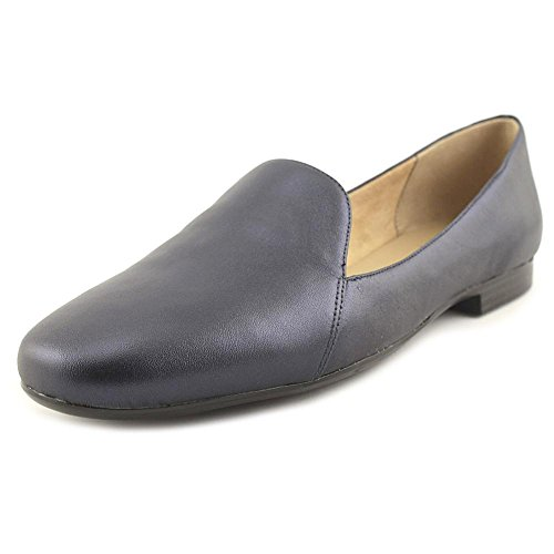 Naturalizer Vrouwen Emiline Slip-on Loafer Inktzwarte Marine Metallic Leer