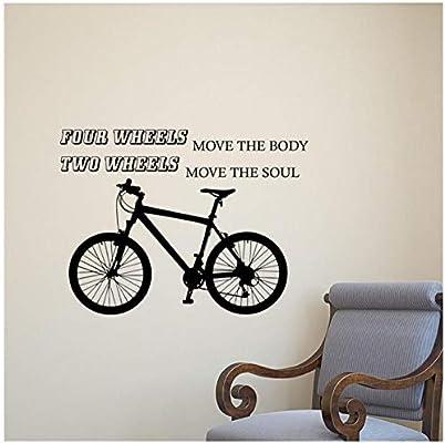 Nueva venta caliente pegatinas modernas bicicleta pared calcomanía ...