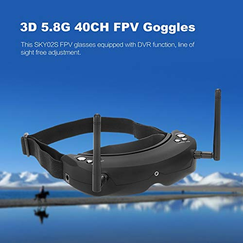 Wikiwand SKYZONE SKY02S V+ 3D 5.8G 40CH FPV Goggles Video Glasses w/ Transmitter Camera by Wikiwand (Image #2)