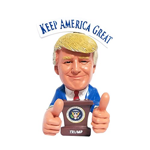 Donald Trump Bobblehead - Thumbs Up 2020 Presidential Election - President Trump Reversible Political Gag Gift