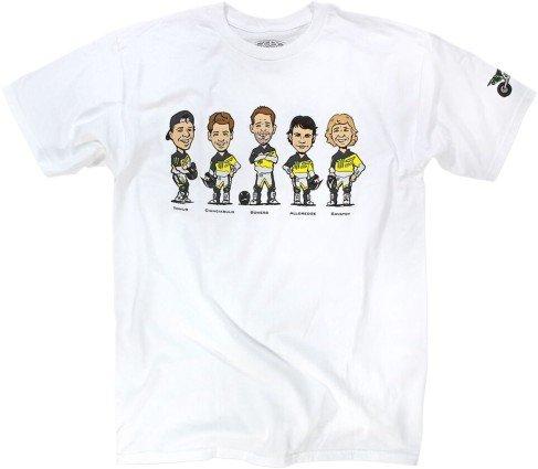 Pro Circuit 6414100020 Caricatures T-Shirt (White, Medium)