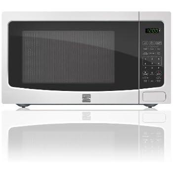 Amazon Com Kenmore White 1 1 Cu Ft Countertop Microwave