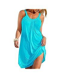 Preferhouse túnica de Playa para Mujer con Tiras Sueltas y elásticas