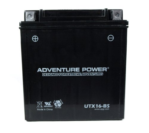 UPG UTX16-BS - OEM YTX16-BS - Motorcycle Battery - Dry Charge AGM - 12 Volt - 14 Ah Capacity - D Terminal