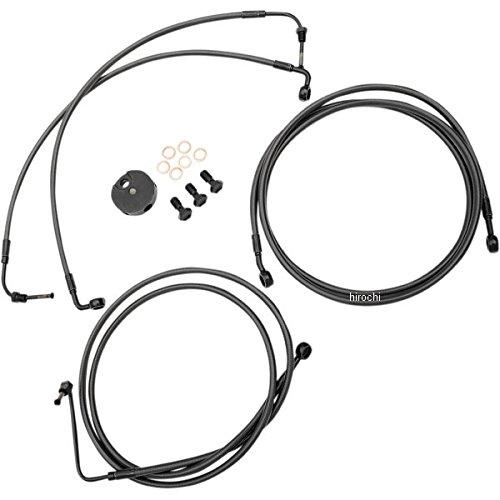 LAチョッパーズ LA Choppers ブレーキホース 黒/黒 08年-13年 FLTR ABS付き 純正ハンドル用 1741-4410 LA-8050B00M   B01M0ARON1