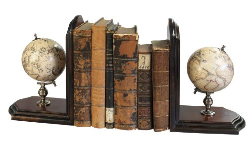 - Authentic Models Globe Bookends, French Finish - GLO09F