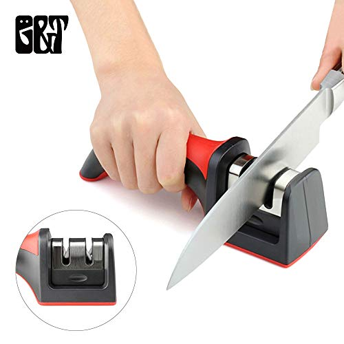 Kitchen Knife Sharpener Tool Helps Repair, Restore and Polish Blades ABS handle steel and Ceramic material easy and quick to sharpen your knives