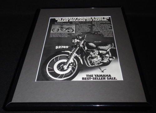 1982 Yamaha Maxim 550 Motorcycle 11x14 Framed ORIGINAL Vintage Advertisement