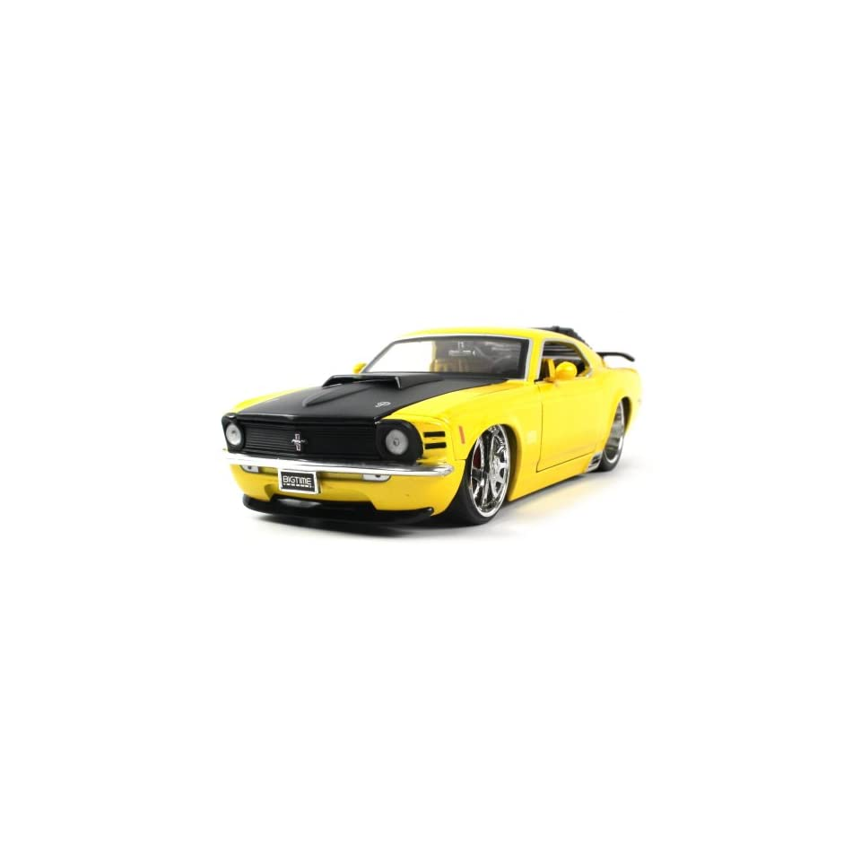 Jada Toys Diecast 124 Licensed 1970 Ford Mustang Boss 429 Car Full Metal DUB City Big Time Muscle Collection, Extremely Detailed Throughout (Yellow)