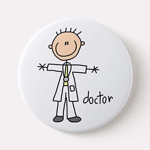 BGLKCS Doctor Stick Figure Button