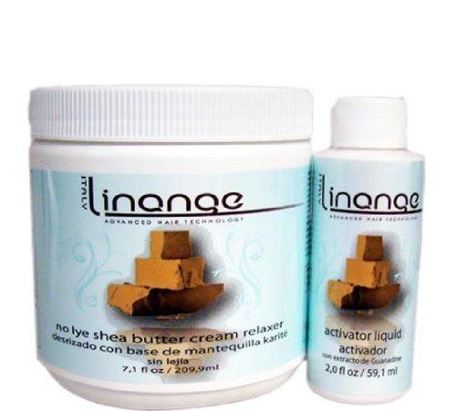 Linange No Lye Shea Butter Cream Relaxer & Activator liquid Single Application Big Sale!!