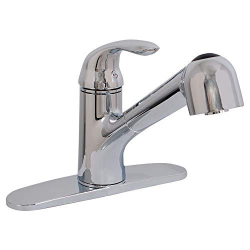 EZ-FLO 10384 Non-Metallic Pull-Out Spout Kitchen Faucet