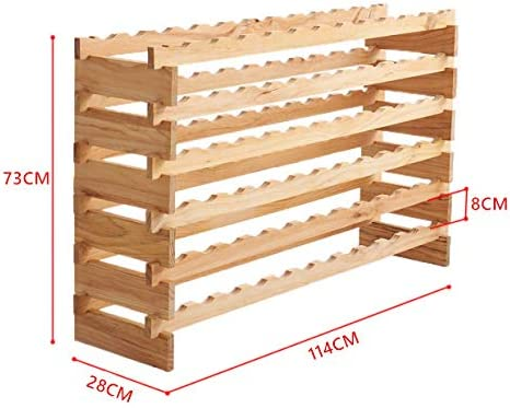 Wine Bottle Holder Made Out of Pine Wood Display Shelf Cabinet for Horizontal Storage 6//7 Shelves Wooden Wine Racks Stand for 72 Or 84 6 Layer