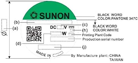 Fan Ventilateur 12V 1,44W 60x60x20mm 38,3m/³//h 32,5dBA ; Sunon EE60201S11000U999