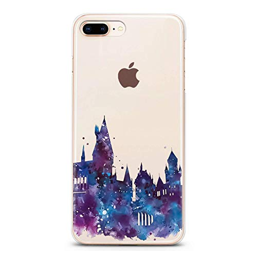 Lex Altern TPU Case for iPhone Apple Xs Max Xr 10 X 8+ 7 6s 6 SE 5s 5 Cute Clear Harry Castle Cover Transparent Silicone Violet Unique Print Protective Durable Kids Girl Women Picture Present Luxury