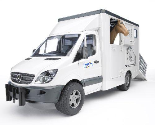 Bruder MB Sprinter Animal Transporter Including 1 Horse (Bruder Horse Trailer compare prices)