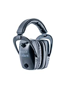 Pro Ears - Pro Tac Slim Gold - Military Grade Hearing Protection and Amplification - NRR 28 - Ear Muffs - Black