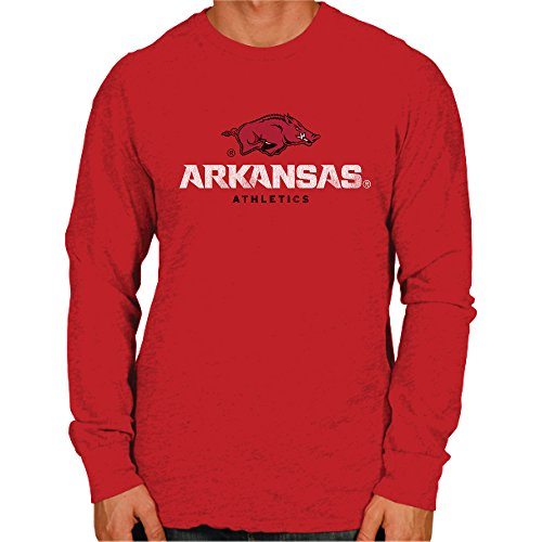 - NCAA Arkansas Razorbacks Men's Long Sleeve Tee, Medium, Cardinal