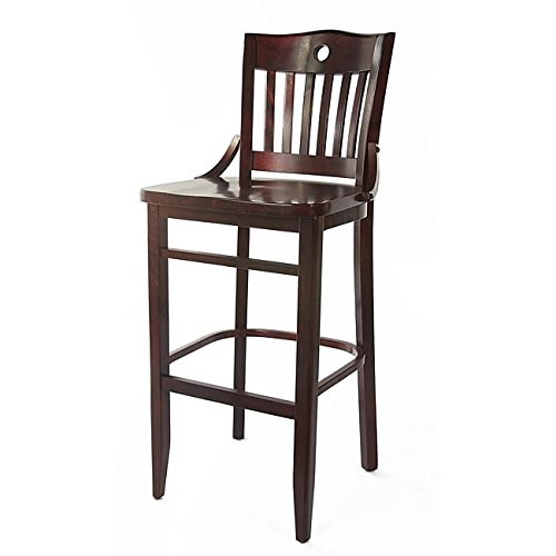 Beechwood Mountain BSD-28S-C Solid Beech Wood Side Chairs in Cherry for Kitchen & Dining, Set of 2, - Chair Seat Cherry Two