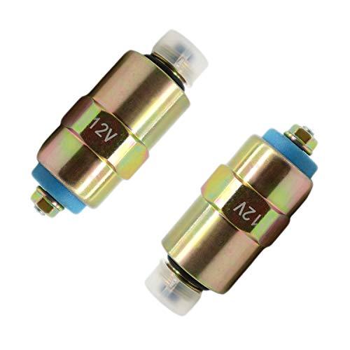 Diesel Stop Magnetic Valve Shutoff 7167-620A Fit for Part No. RE22744 RE54064 7185-900w 2Pcs/Set