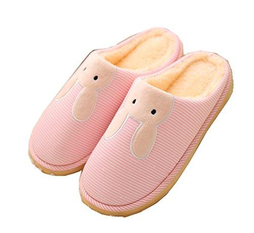 Pantofole Da Donna Pantofole Bluse In Cotone 100% Cotone Lavorato A Maglia Colore Rosa