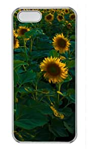Sunflower Field Background Protector PC Hard Material Transparent Cover Case For Iphone 5 5S