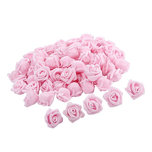 Pparty 1-Inch Fake Flower Heads, 80-Pieces, Light Pink