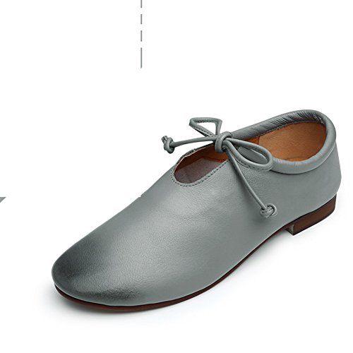 redonda otoño zapatos vintage/Cabeza con tacones gruesos/Zapatos de mujer de Inglaterra/ zapatos de baile D