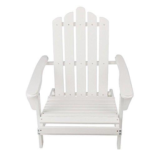 Sonnenstuhl aus Akazienholz Deckchair für Innen & Außen zusammenklappbar 65.00 x 59.50 x 69.00 cm weiß