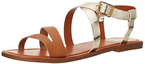 Polo Ralph Lauren Kids Sabrina Leather Fashion Sandal (Little Kid/Big Kid), Gold Specchio W/Saddle, 3 M US Little Kid