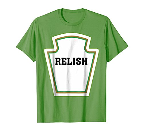 Relish Bottle Funny Halloween DIY Costume Green T-Shirt]()