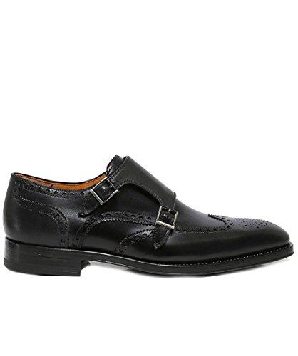 Dublin Double Hommes Magnanni Noir Noir Moine Chaussures de Sangle awtwnPX1qz