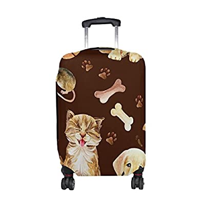 17028190b764 LAVOVO Kitten Puppy And Mouse Luggage Cover Suitcase Protector Carry ...