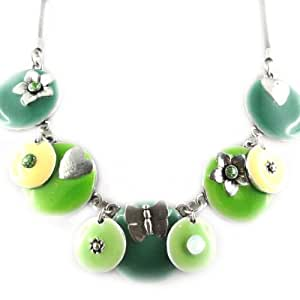 Collar 'french Touch' 'macarons' De Color Verde.